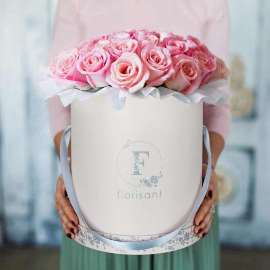 2 3 526x526 - Букет из розовых роз №1-008