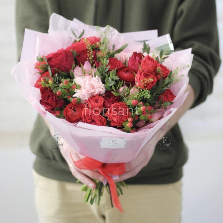 F15E0E11 F784 4FEF 920C 7C53E9A38828 870x870 - Цветочный комплимент в красной гамме N22-022